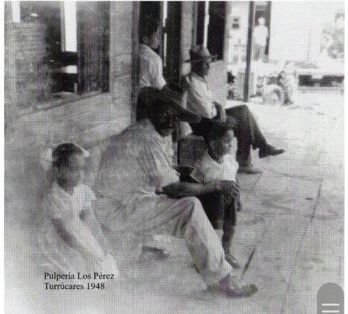 Pulpería Los Pérez por allá en 1950